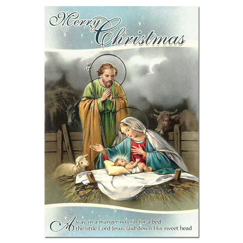 Christmas Card: Away in a Manger
