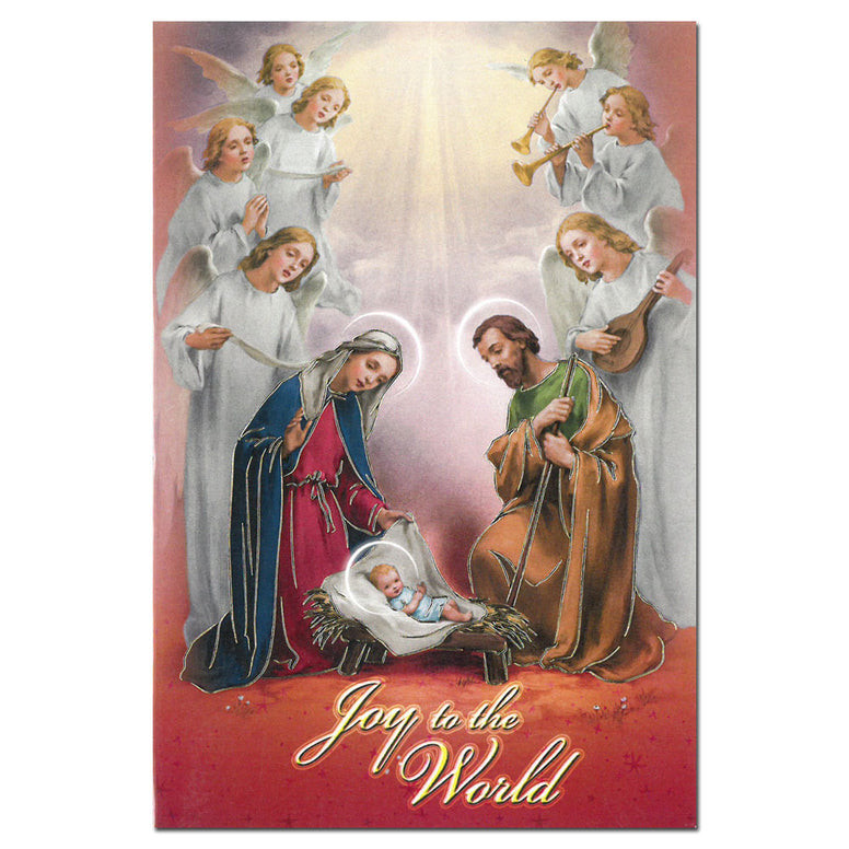 Holy Family & Angels - single card