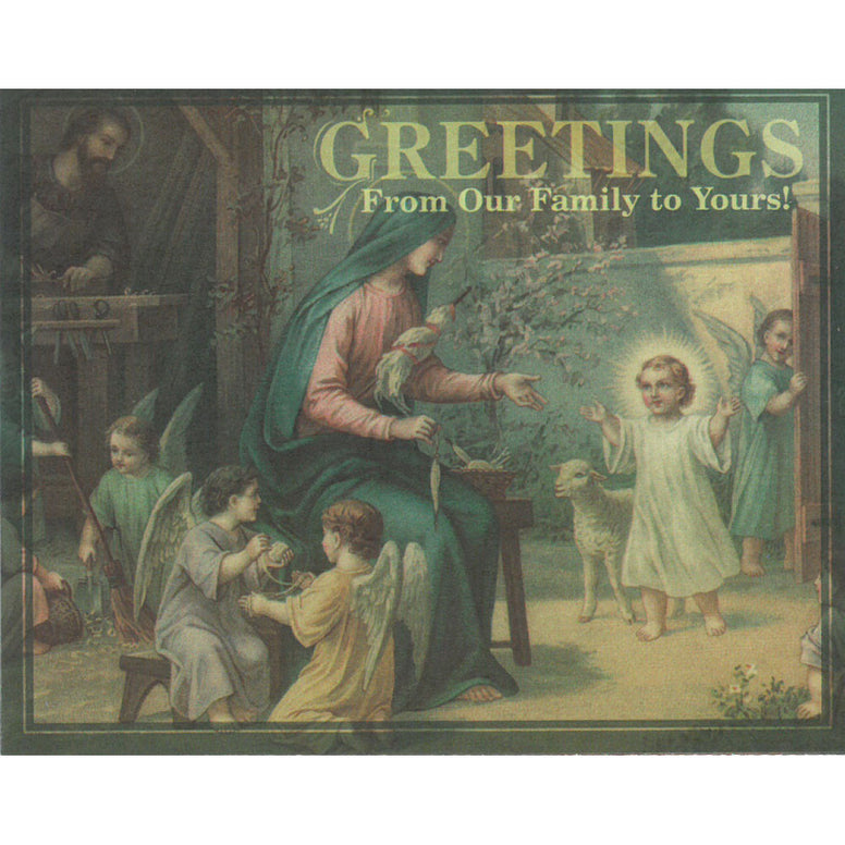 Family Greeting Note Card