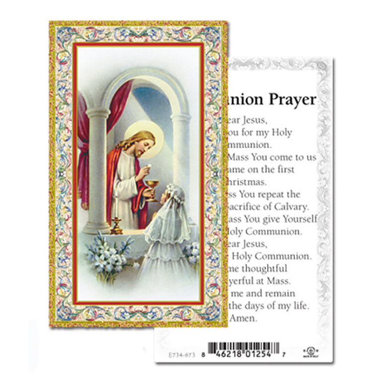 First Communion Holy Card: Girl
