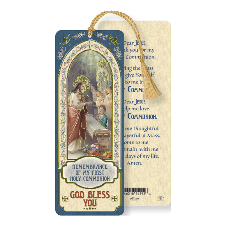 Laminated Bookmark: First Communion BOY
