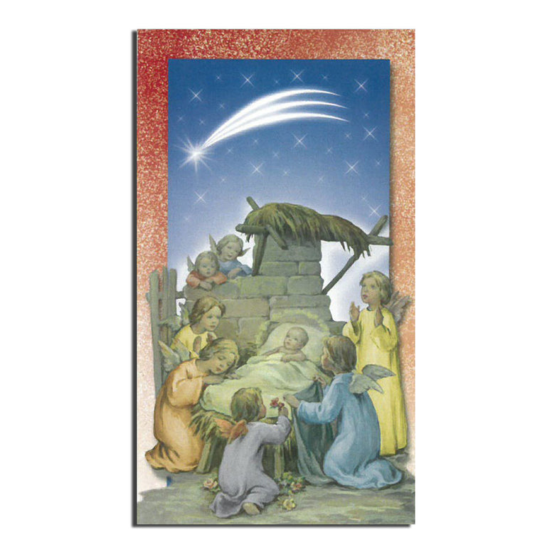 Baby Jesus w/ Angels Holy Card