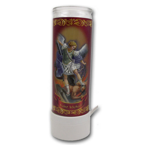 "8"" St. Michael Flameless Candle"