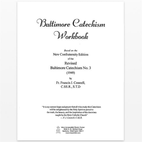 Baltimore Catechism Workbook (Sheets)