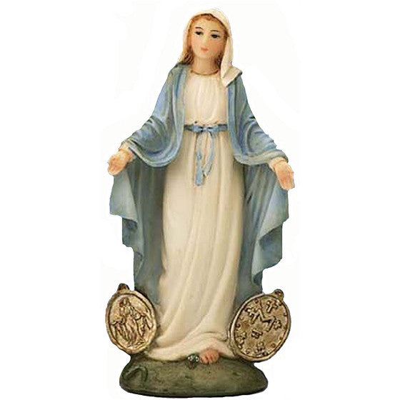 "4"" Our Lady of the Miraculous Medal"