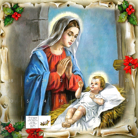 Mary with Infant Jesus Advent Calendar
