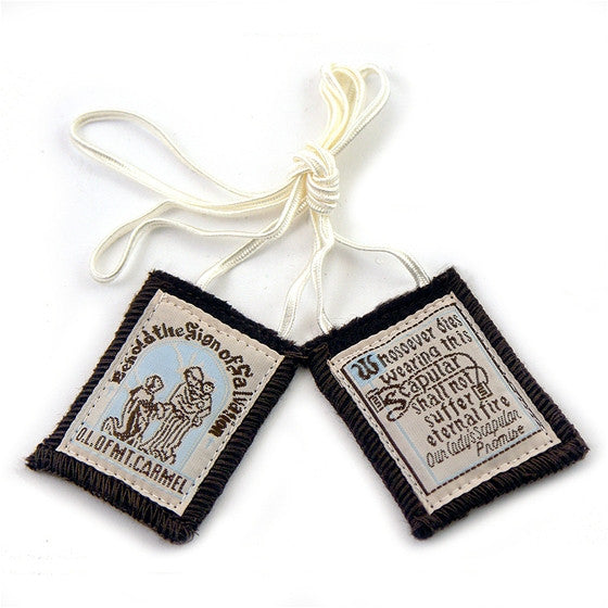 Best Brown Scapular-white cord