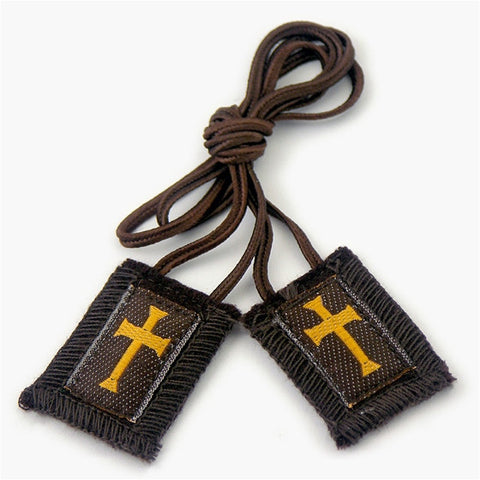 Crusader Scapular: Brown Cord