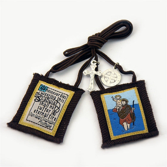 Brown Scapular - St. Christopher