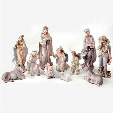 "12"" Pearlized Nativity Scene"