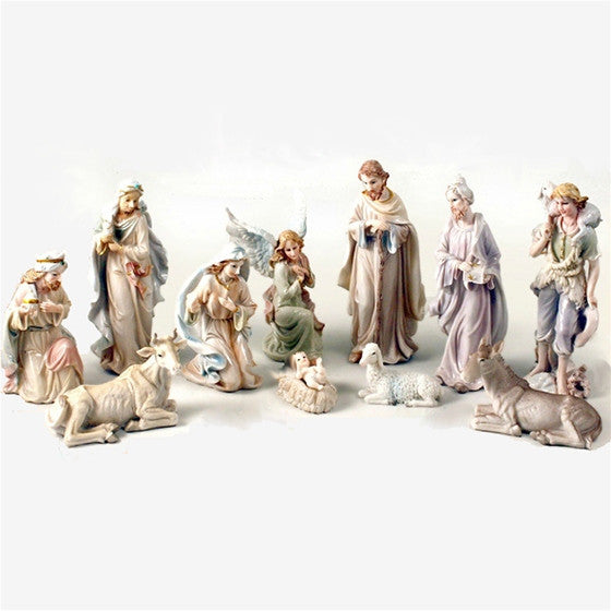 "8"" Pearlized Nativity Scene"