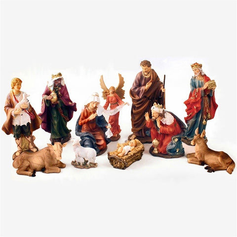 "Traditional 12"" Nativity Scene"