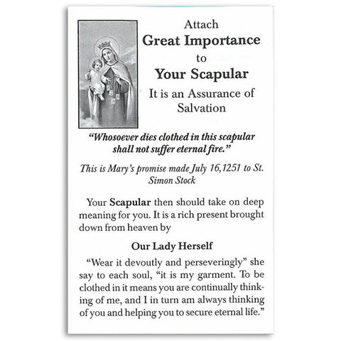 Attach Great Importance to Your Scapular