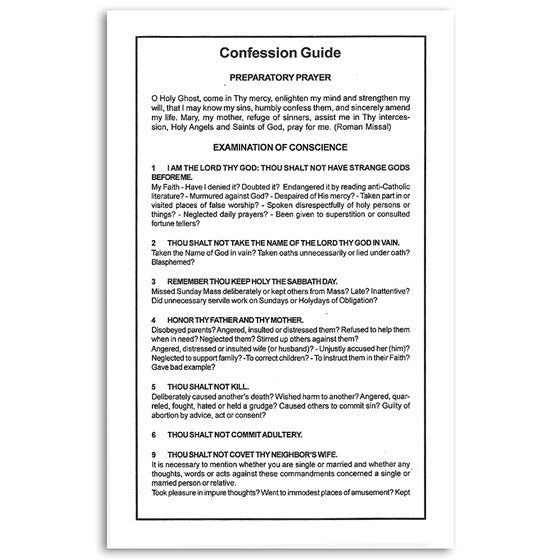 Confession Guide Card