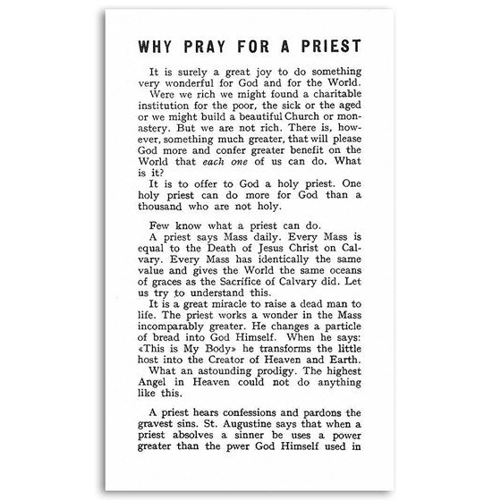 Why Pray for a Priest?