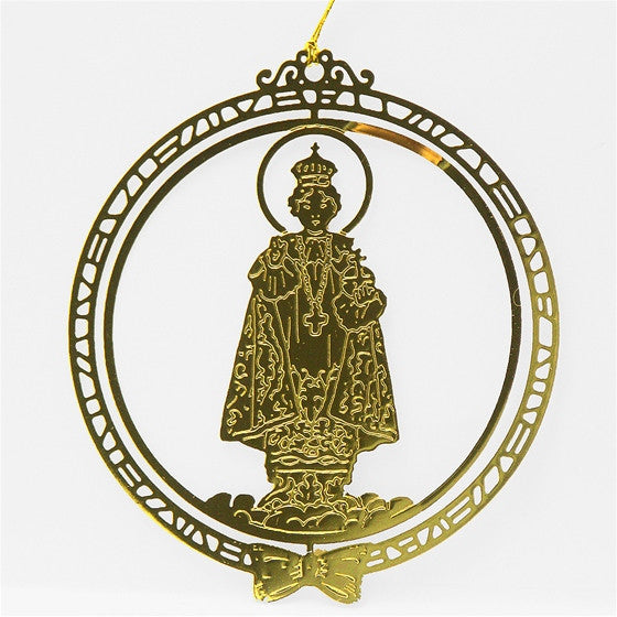 Infant of Prague Brass Ornament