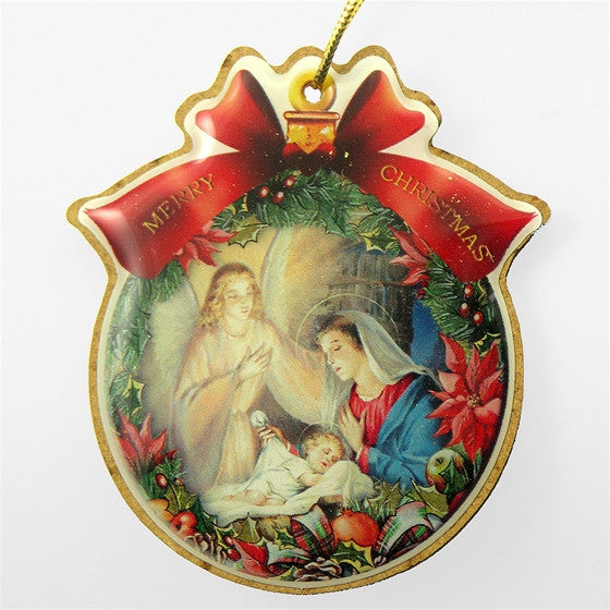 Mary with Angel and Babe Ornament