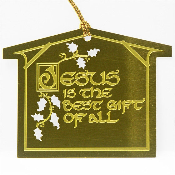 Jesus the Best Gift Ornament