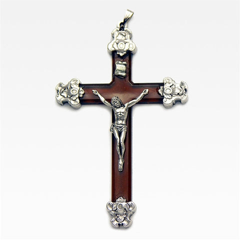 "4"" Brown Crucifix"