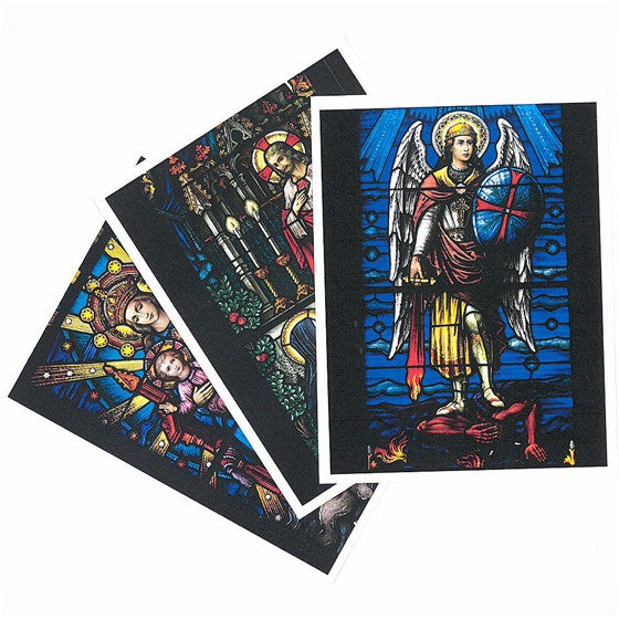 Mt. St. Michael: Stained Glass Windows Note Cards - Package of 8