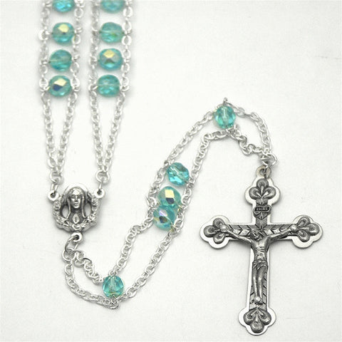 Aqua Ladder Rosary