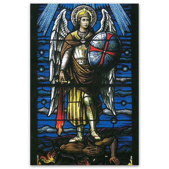 Mt. St. Michael: St. Michael Stained Glass Window - Postcard