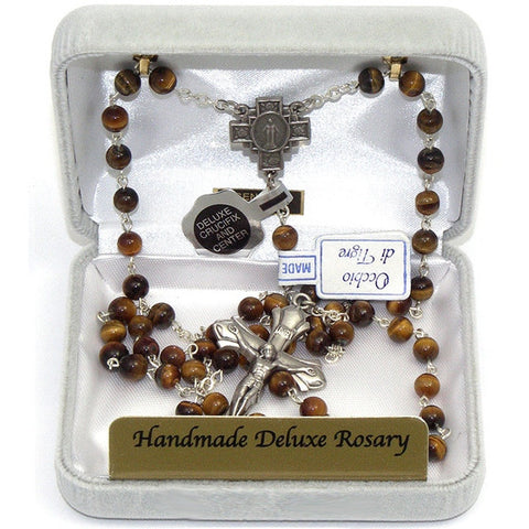 Tiger Eye Rosary