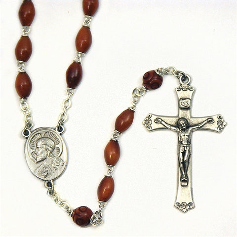 Natural Cocoa Bead Rosary