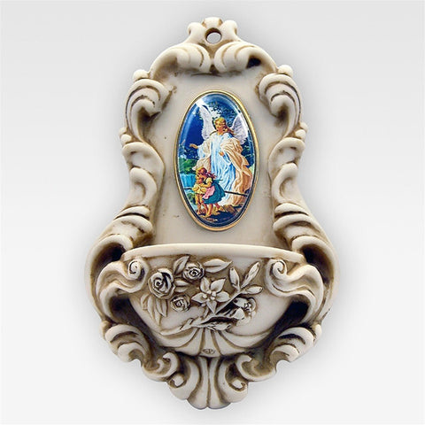 Guardian Angel Holy Water Font - 6.5""