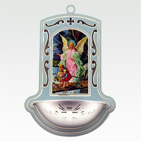 Guardian Angel Holy Water Font - Blue