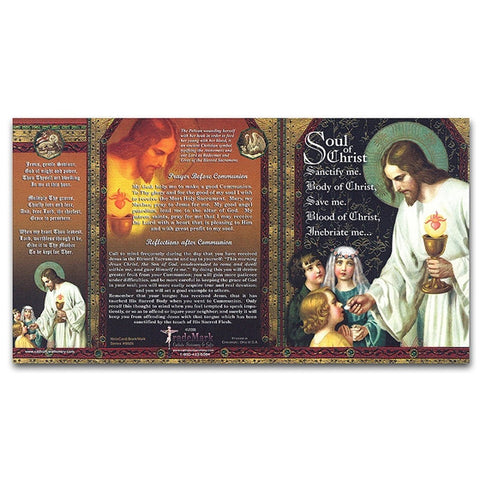 First Communion Soul of Christ Note Card/Bookmark