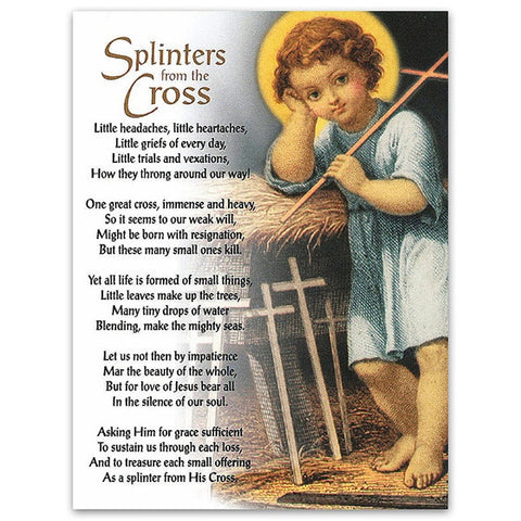 Splinters from the Cross Note Card