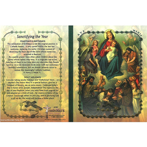 Queen of Saints Note Card