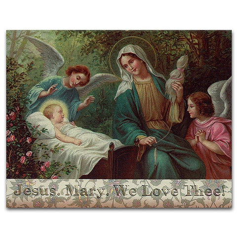 Jesus, Mary We Love Thee Note Card