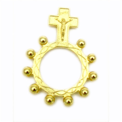 Golden Rosary Ring