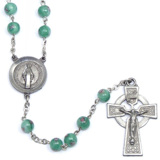 Green Venetian Glass Rosary