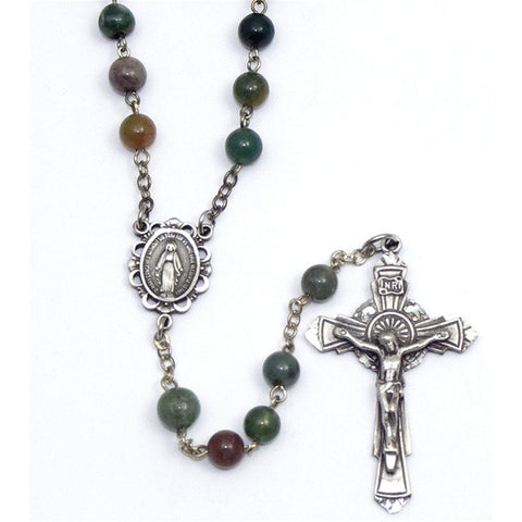 India Agate Rosary