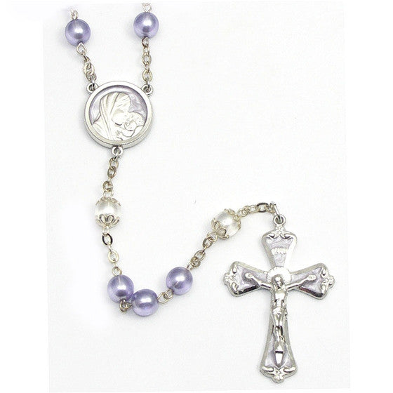 Lavender and Pearl Rosary