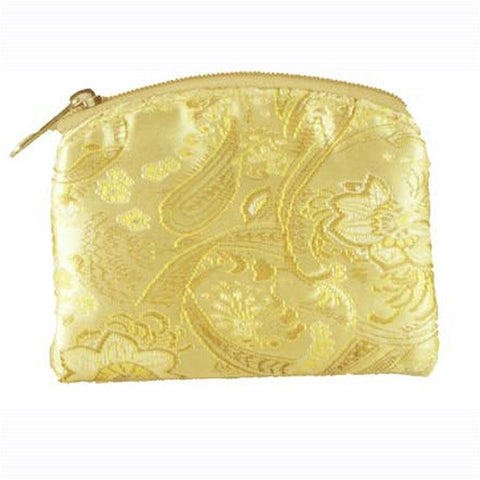 Gold Brocade Rosary Case