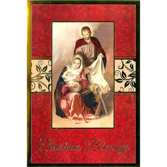 Christmas Blessings Gold Foil 16/pk