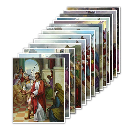 8x10 Stations of the Cross Prints