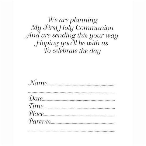 Girl First Communion Invitations 5/pk