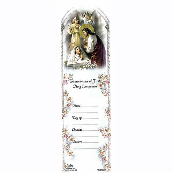 Girl First Communion Bookmark