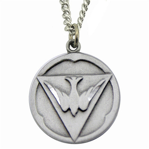 Holy Ghost Sterling Silver Medal with Chain