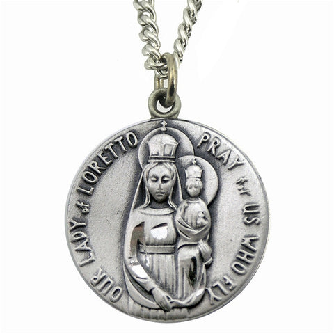 Our Lady of Loretto Medal on Chain