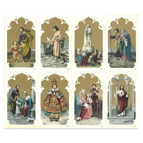 Oro Assorted Holy Card Sheet