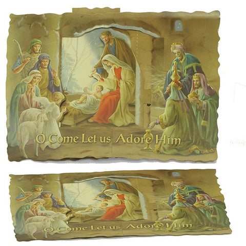 Nativity 3D Standup Card