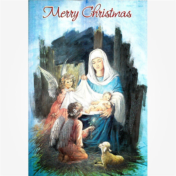 Mary with Angels: Merry Christmas 16/pk