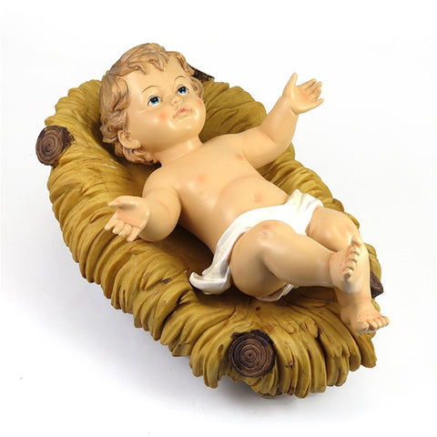 "12"" Infant Jesus in Crib"