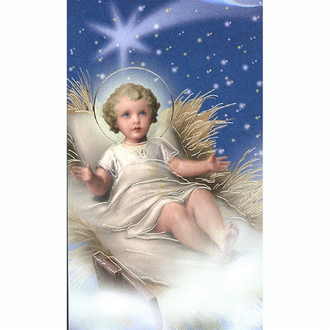 Baby Jesus Pillow Holy Card
